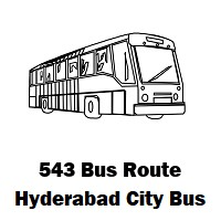 543 Bus route Hyderabad Uppal Bus Stop to Juloor