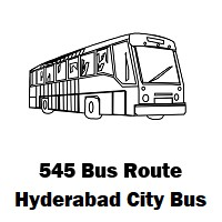 545 Bus route Hyderabad Uppal Bus Stop to Juloor