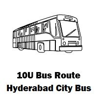 10U Bus route Hyderabad Uppal Bus Stop to Shyamlal Building