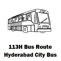 113H Bus route Hyderabad Uppal Bus Stop to Hafeezpet Bus Stop