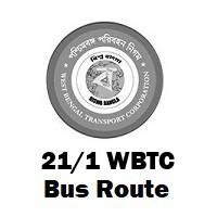 21/1 Bus route Kolkata Barisha to B.B.D. Bag